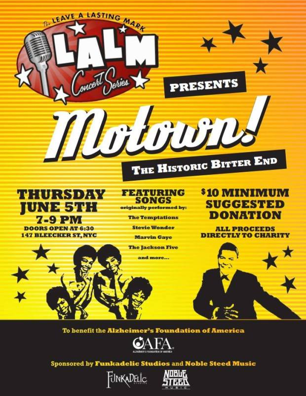 Leave a Lasting Mark Concert Series Presents - MOTOWN!